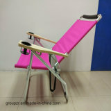Silla de playa plegable de playa con reposabrazos