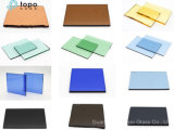 3mm-19mm 얼룩이 졌거나 색을 칠한 파랑 회색 녹색 또는 청동색 플로트 유리 (C-TP)