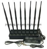 8 emittente di disturbo del telefono delle cellule di frequenza ultraelevata di VHF di GPS/WiFi/di alto potere delle antenne