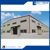 Estructura de acero pre dirigida que construye el hangar del acero estructural
