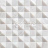 Плитка мозаики стороны 20*20mm свода пресноводной раковины чисто белая квадратная