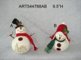 """8 """" décorations Gift-2asst de Noël de choc de festin d'orignaux et d'ours de H"""