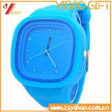 Cadeau fait sur commande de montre de silicones de qualité de logo de promotion (YB-HR-86)