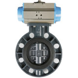 Estándar industrial del ANSI JIS del estruendo de la válvula del PVC para el agua
