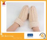 Перчатки женщины Kintted Mohair новых Mittens способа реальные
