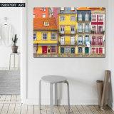Impression colorée de toile de Chambre de ville de réalisme