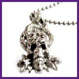 Collana Pendant del cranio del demone del Bull dell'acciaio inossidabile di modo 316 per le donne degli uomini