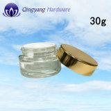 косметический Cream стеклянный опарник 30g с крышками Алюмини-Пластмассы
