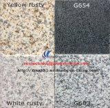 G603/654/G664/Rustyの灰色の黒く黄色く白く自然な花こう岩の床タイル
