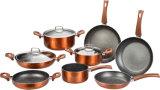 Insieme di alluminio di rame metallico del Cookware dell'articolo da cucina
