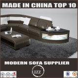 2017 neues U Form-Wohnzimmer-Leder-Ecken-Sofa