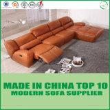 Moderner Entwurf Leder-Ecksofa Sofa mit Funktion