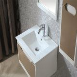 Gabinete sanitário da vaidade do banheiro da madeira de carvalho dos mercadorias da bacia cerâmica
