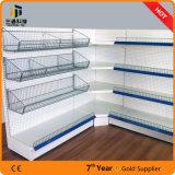Supermarkt-Gondel-Metallausstellungsstand-Ecken-Regal