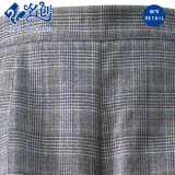 Pantaloni grigi di modo del plaid con stringa di gomma