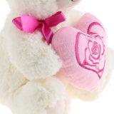 De Teddybeer van de Pluche van de Gift van de valentijnskaart met Roze Hart voor Meisjes