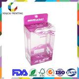 Caixa de presente transparente do acetato da alta qualidade com o punho para o brinquedo do luxuoso