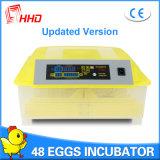 Hhd 고아한 모형 자동적인 도는 48마리의 닭 계란 부화기