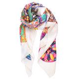 Шарф повелительницы 100% чисто Silk стильный напечатанный длинний