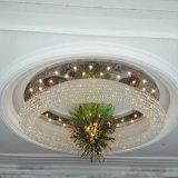Lusso rotondo di grande formato e lampada di cristallo di progetto Morden per la decorazione dell'hotel