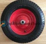 rueda de goma neumática de 4.00-8 /400-8 con el borde de acero
