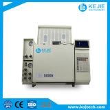 Cromatografia de gás solvente da análise do resíduo