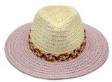 Sombrero de Panamá del paño del papel popular con diversos colores