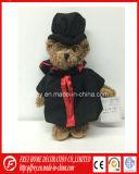 Brinquedo do Koala do luxuoso com veste da graduação, doutor Chapéu