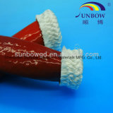 Flama macia resistente de alta temperatura de Sunbow - Sleeving retardador da fibra de vidro do silicone