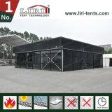 Barraca Thermo do telhado 15X15m da estrutura preta do cubo da cor para o evento ao ar livre