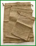 Sacs de empaquetage de poches de petit cadeau de jute estampés par coutume