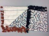 Écharpe imprimée à la mode avec coton Tassel 2017 Écharpe à manches longues