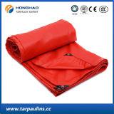 encerado impermeável revestido/encerado do PVC da cor 500GSM vermelha para a tampa