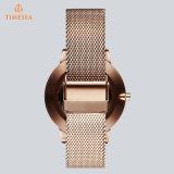 Nuevo reloj 71330 del cuarzo de las señoras del acero inoxidable del diseño de la manera