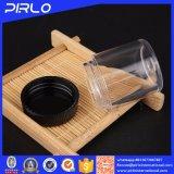 10g de plastic Duidelijke Losse Compacte Kruik van het Poeder met Zwart Deksel