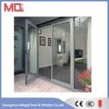 Puerta de aluminio exterior con la ventana de apertura