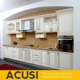 Gabinetes de cozinha lineares americanos por atacado da madeira contínua do estilo (ACS2-W07)