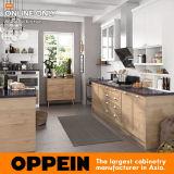 Module de cuisine normal moderne de PVC d'Oppein avec l'île (OP17-PVC04)