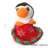 Les produits de crabot de Noël se sont assemblés les jouets animaux de peluche d'animal familier de corde