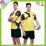 熱いスポーツチーム安く100%年のポリエステルによって昇華させるサッカーのユニフォーム