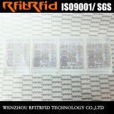 UHF Impression couleur imperméable à l'eau étiquette RFID pour la gestion des tissus