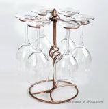 Desmontar el metal de mesa 6-botellas de cristal de vino Soportes de Copa