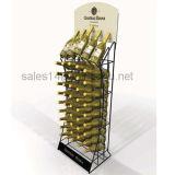 Estante de botella de vino de madera de exhibición con el soporte de cristal Estante de pared
