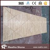 Бежевая плитка мрамора травертина для плакирования стены и плитки настила
