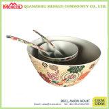 Kom van de Salade van de Vezel van het Bamboe van de Melamine van het Ontwerp van Classice de Grote