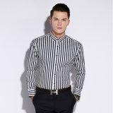 あや織りの100%年の綿の長い袖ビジネスフォーマルドレスのワイシャツ