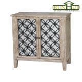 Due cassetto Nightstand di legno nel rivestimento naturale del legname