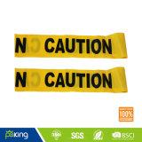 Fita de advertência de PVC de duas cores (amarelo / preto) para etapas de advertência