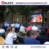 La publicidad al aire libre de interior del alquiler fijada instala la visualización del panel del LED/video de la pared de pantalla