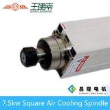 Мотор шпинделя изготовления 7.5kw квадратным охлаженный воздухом высокоскоростной трехфазный асинхронный для деревянного высекая маршрутизатора CNC
